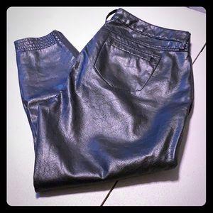 Women's Rebel Wilson Leather Pants, Size 14, EUC